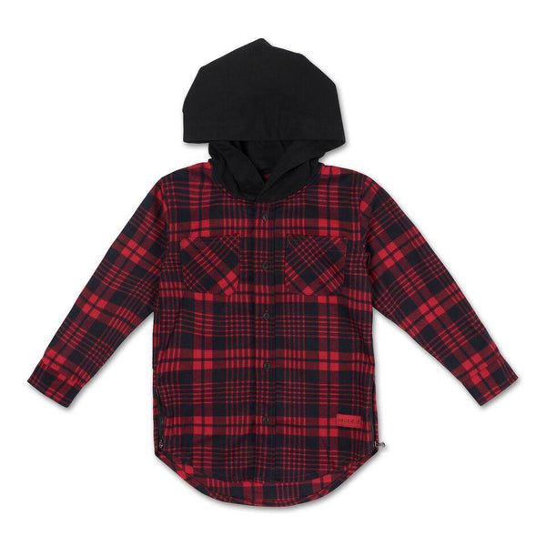 George Hooded Flannel (Red) - Haus of JR