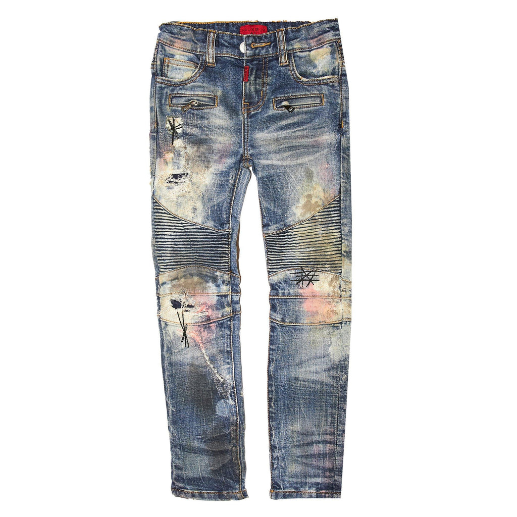 Basquiat Biker Denim - Haus of JR