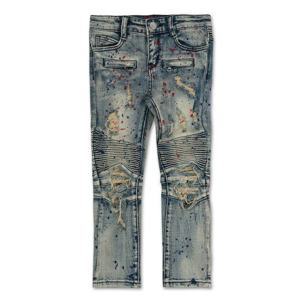 Harry Paint Splatter Denim (Tint Wash) - Haus of JR