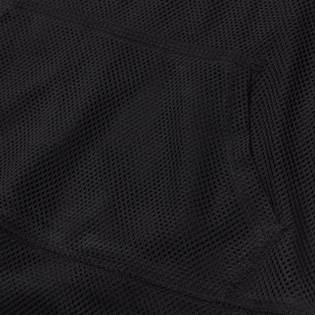 Joey Short Sleeve Mesh Hoodie (Black) - Haus of JR
