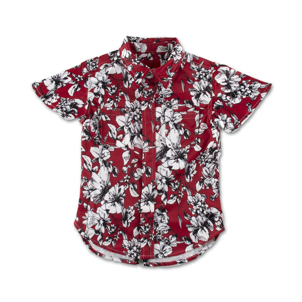 Lilo Button Up (Red) - Haus of JR