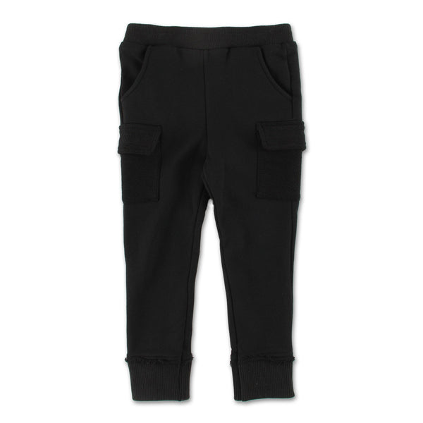 Oliver Cargo Sweatpant (Black) - Haus of JR