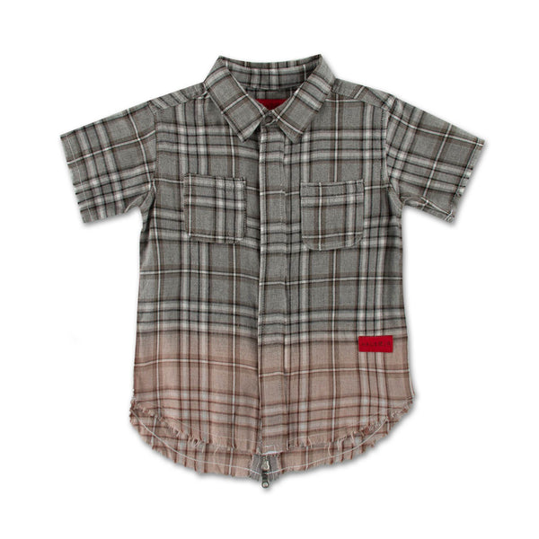 Braxton S/S Flannel (Grey) - Haus of JR