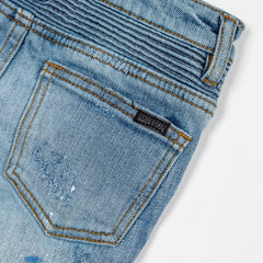 Xander Biker Denim Shorts - Haus of JR