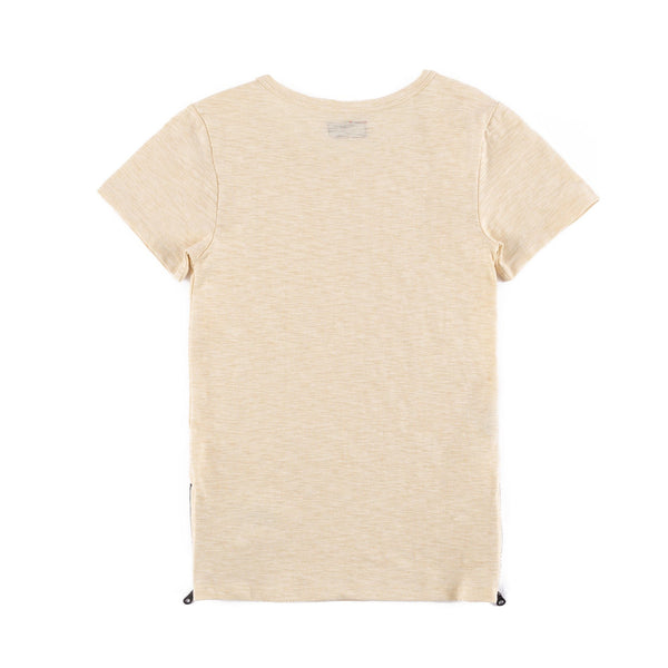 Preston Side Zip Tee (Off White)