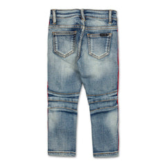 Violet Velour Biker Denim (Indigo Red) - Haus of JR