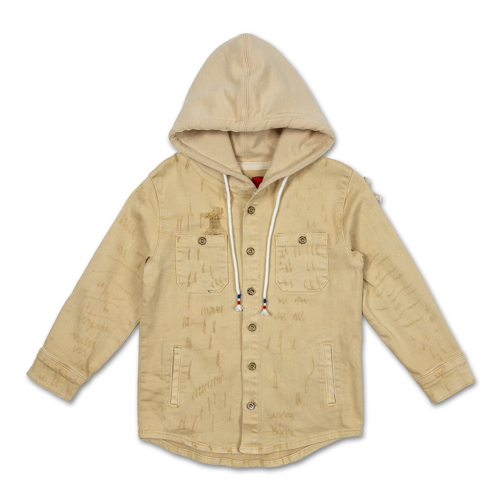 Asher Hooded Denim Shirt - Haus of JR