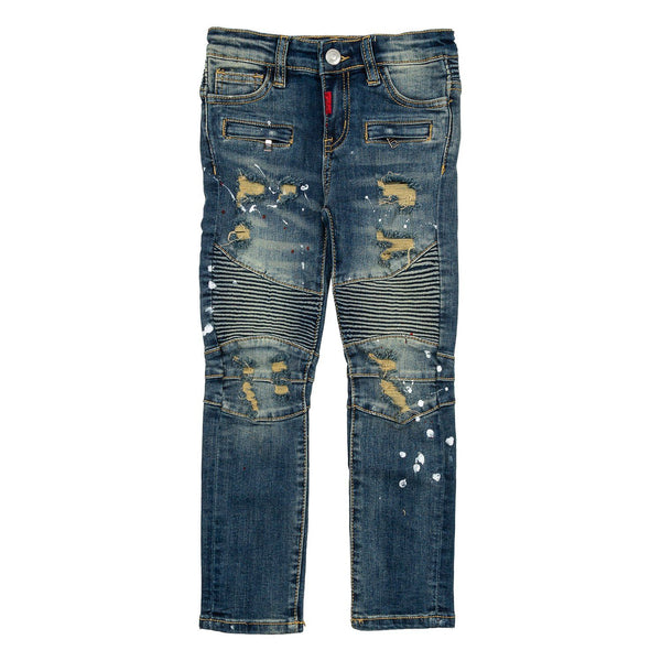 Elijah Biker Denim Bottoms Haus of JR