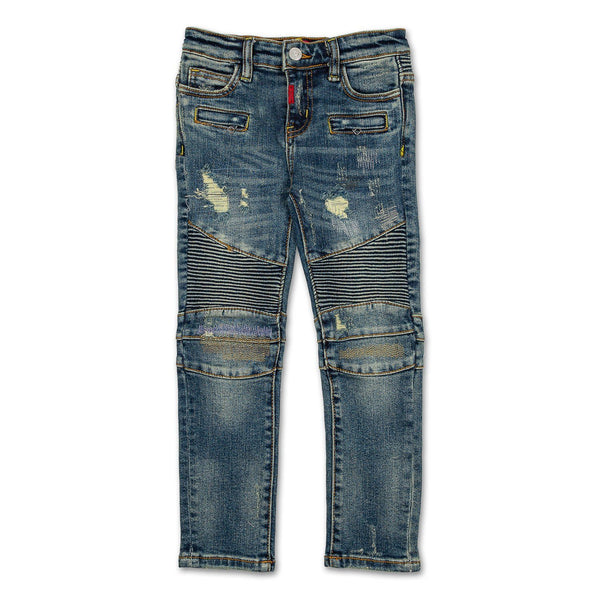 Logan Biker Denim Bottoms Haus of JR