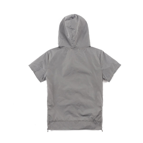 Jackson Nylon Short Sleeve Hoodie (Space Grey)