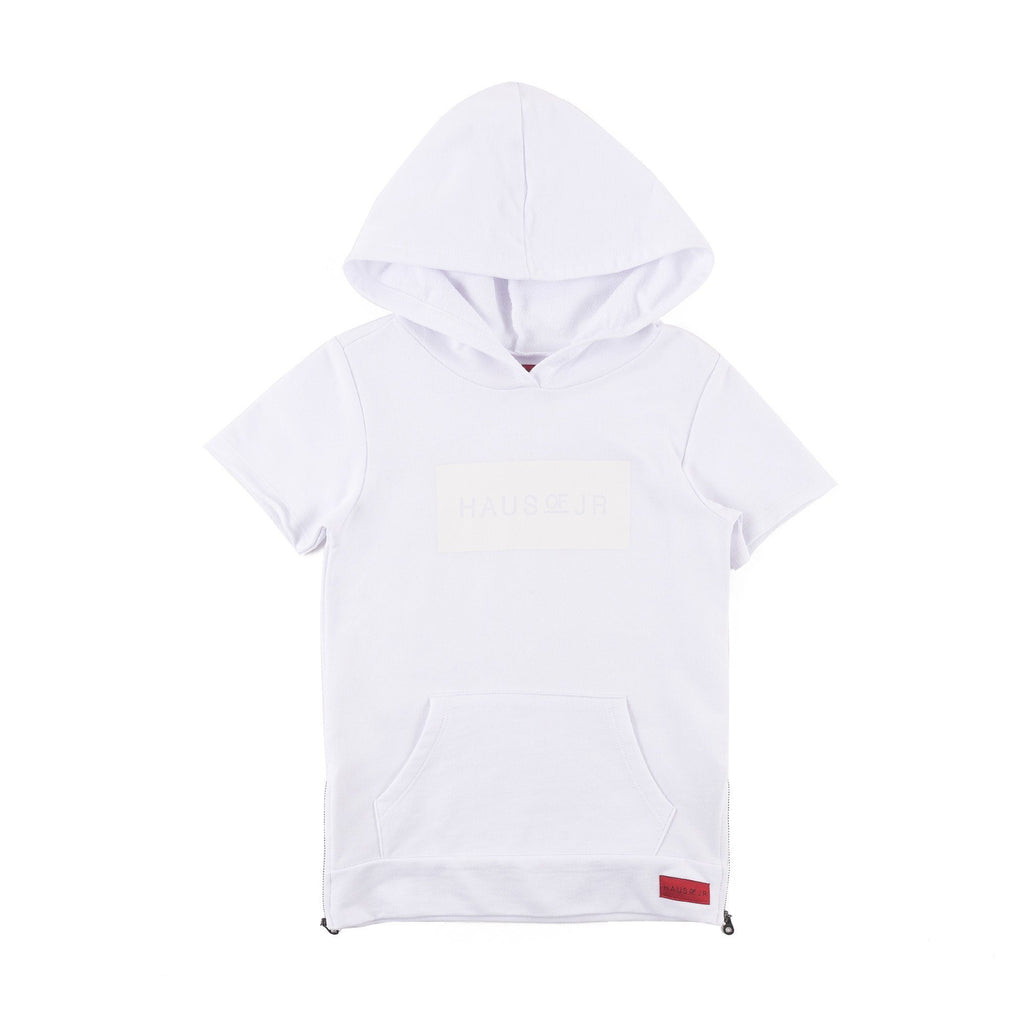Jay Short Sleeve Hoodie (Optic White) - Haus of JR