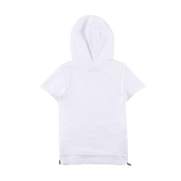 Jay Short Sleeve Hoodie (Optic White)