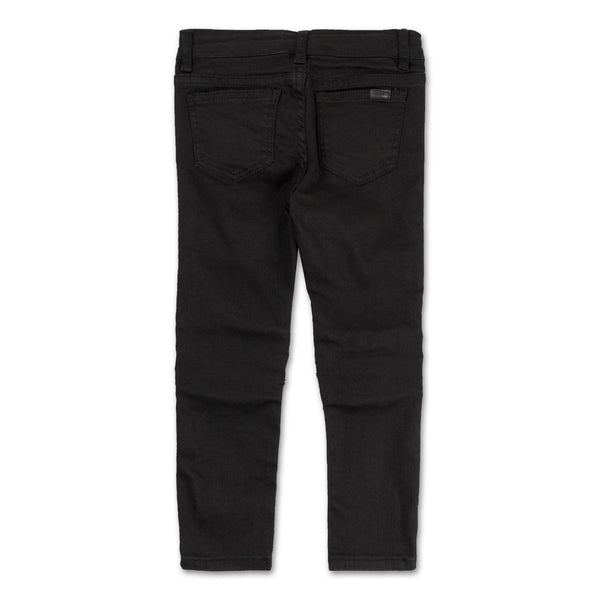Landon Leather Biker Insert Denim (Overdyed Black)