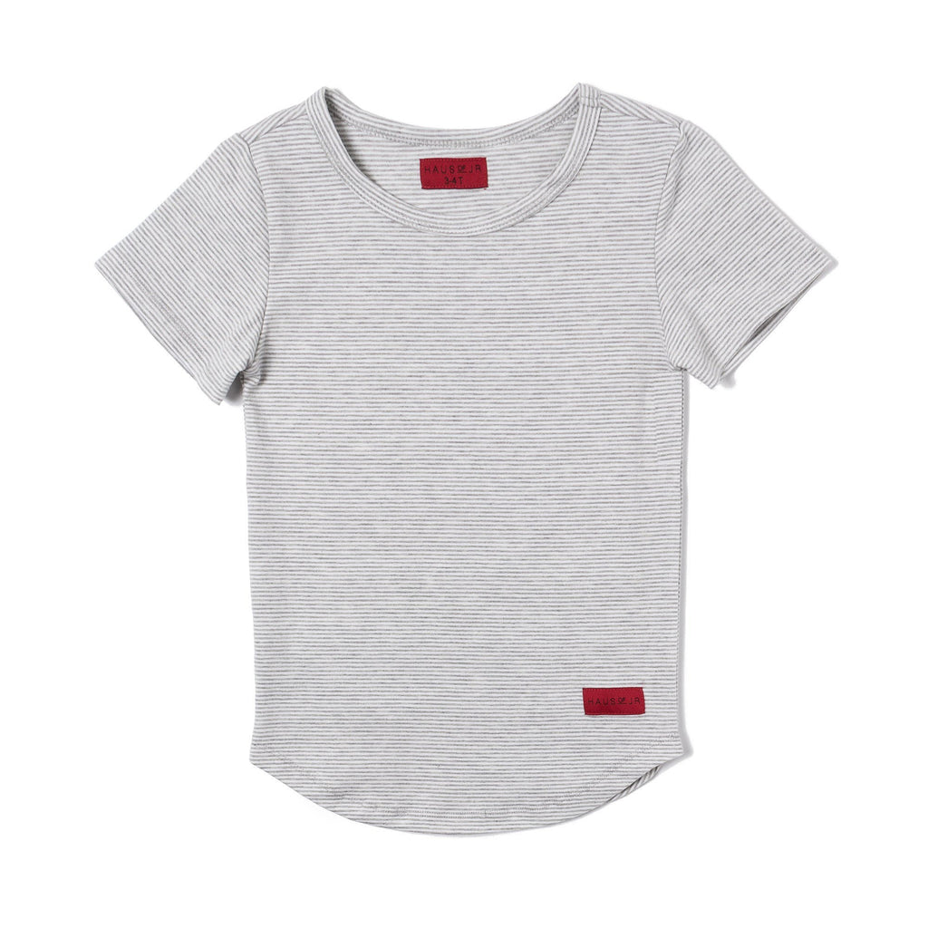 MICH E-LONG TEE (WHITE/HEATHER) - Haus of JR