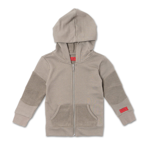 Miles Zip Hoodie (Dust Brown)