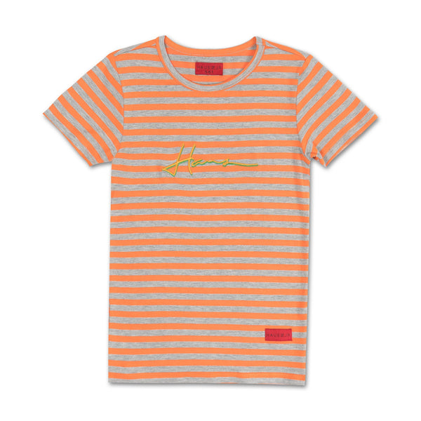 Orion Stripe Tee (Orange) - Haus of JR