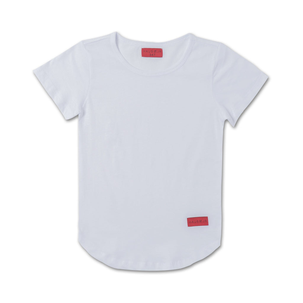 Preston Elongated Tee (White) - Haus of JR