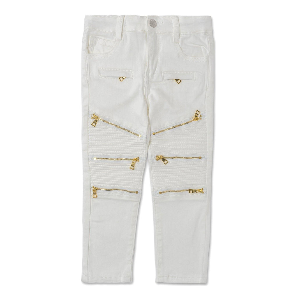Pucci Zip Denim (White) - Haus of JR