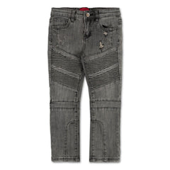 Ragazzi Double Biker Denim (Ash Sandwash) - Haus of JR
