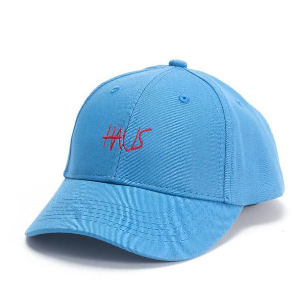 Skylar Script Snapback Hat (Blue) - Haus of JR