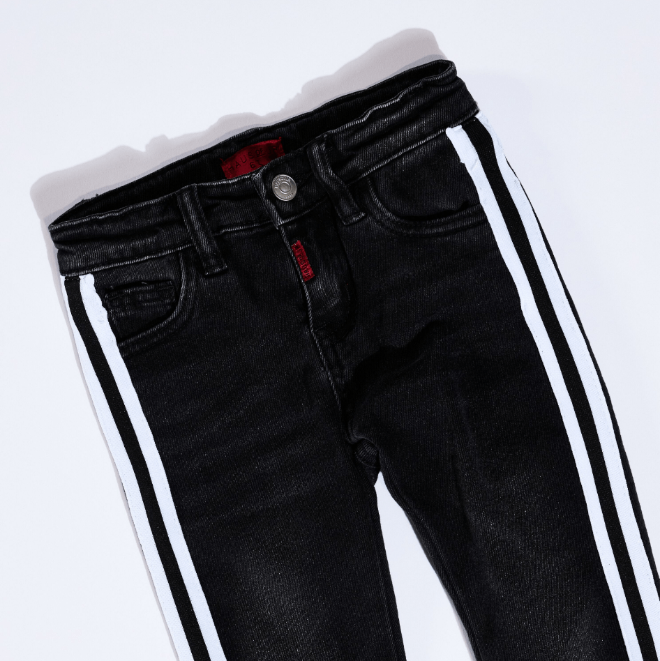 Leonard Striped Denim (White Stripe) - Haus of JR