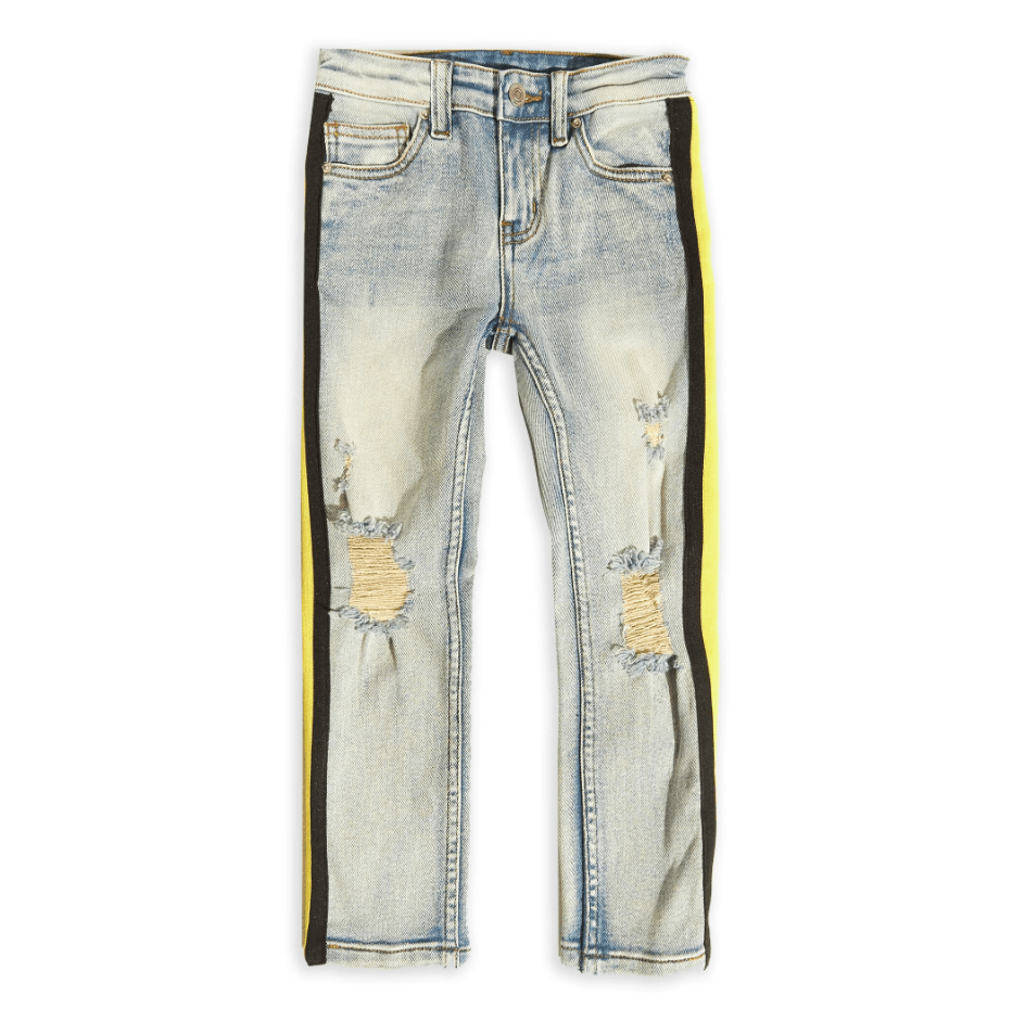 Leonard Striped Denim (Yellow Stripe) - Haus of JR