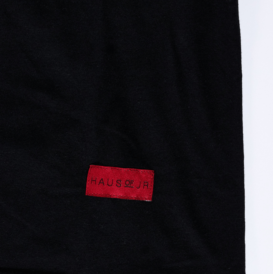Chrome Blossom Tee (Black) - Haus of JR
