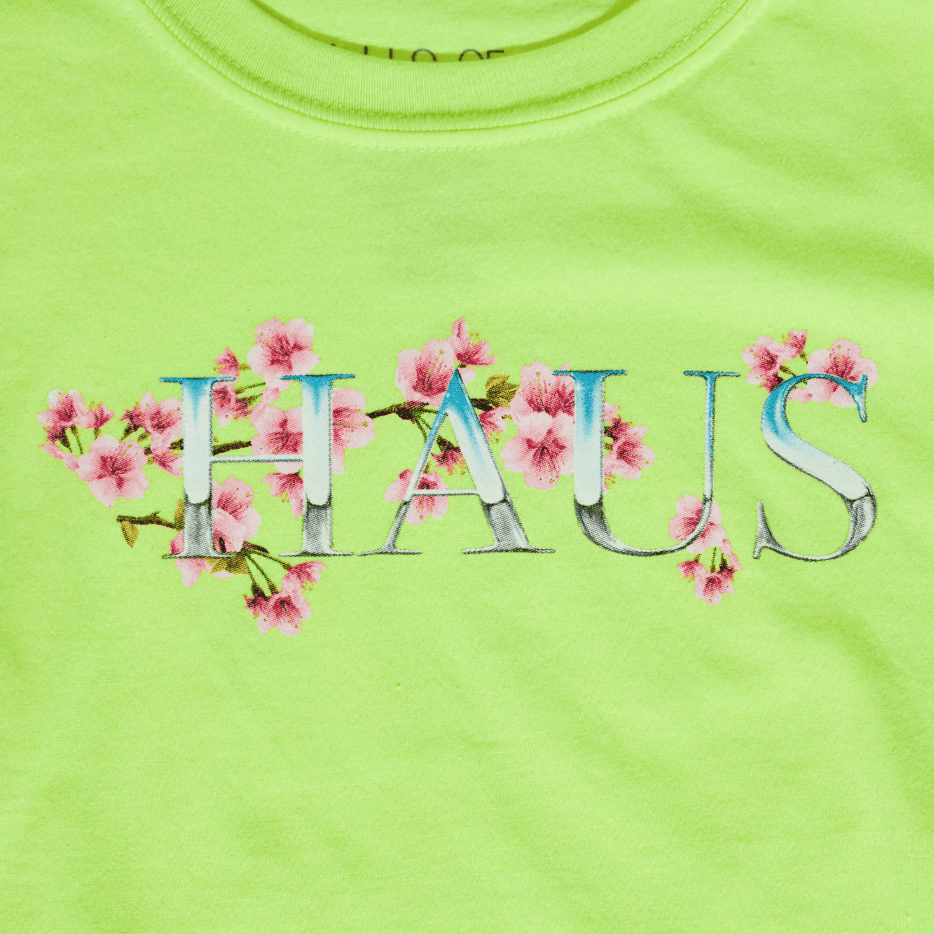 Chrome Blossom Tee (Neon) - Haus of JR