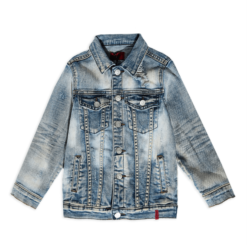 James Denim Jacket (Faded Indigo) - Haus of JR