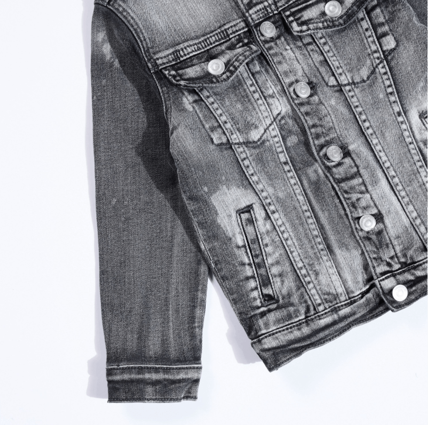 Johnson Denim Jacket (Grey) - Haus of JR