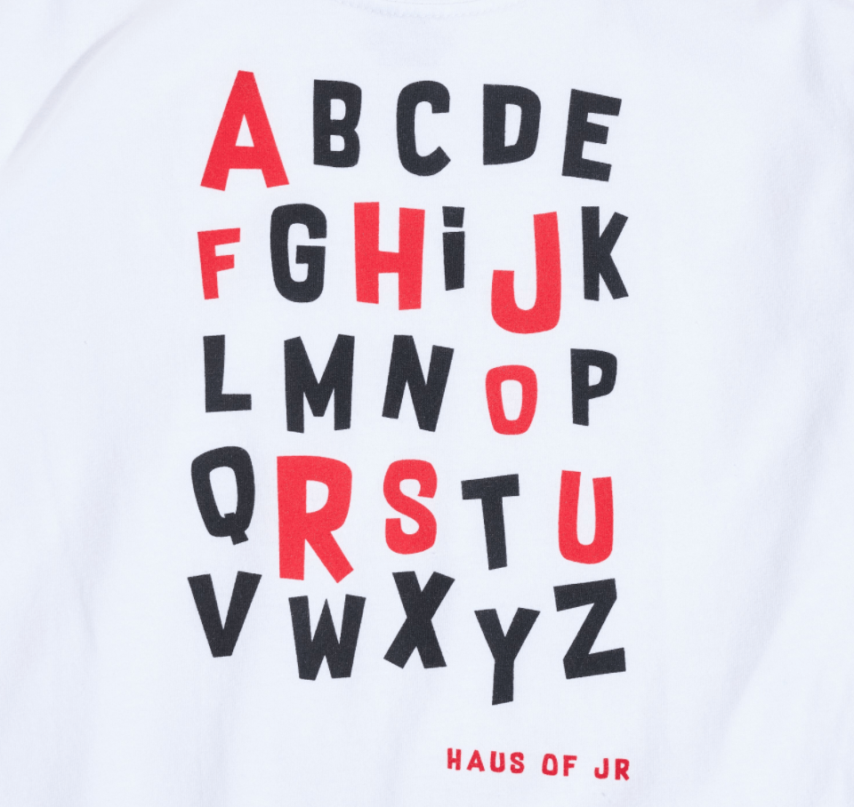 Alphabet Tee - Haus of JR