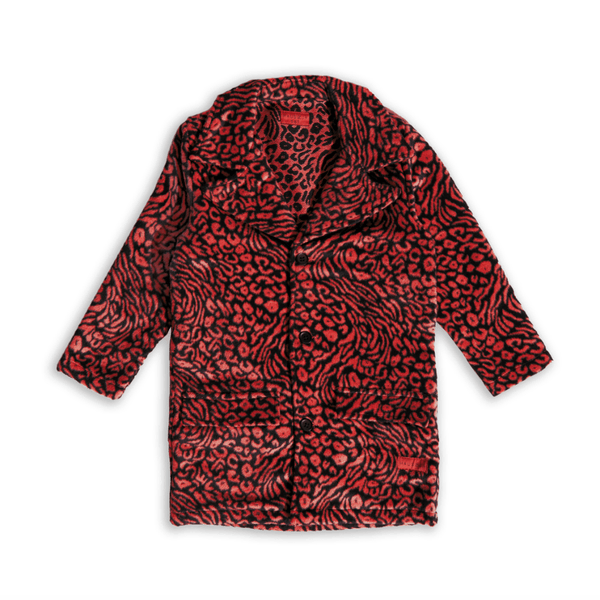 Catprint Peacoat (Red) Outerwear Haus of JR