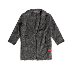 Drake Raw Edge Peacoat (Speckle) - Haus of JR