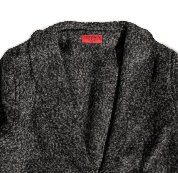 Drake Raw Edge Peacoat (Speckle) Outerwear Haus of JR