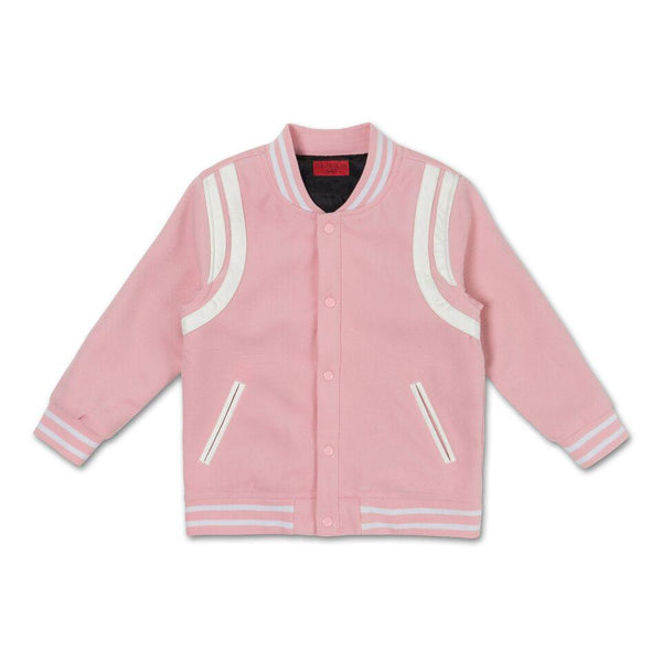 Teddy Varsity Jacket (Powder Pink)