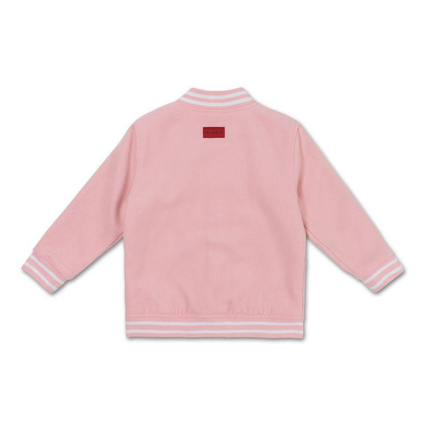 Teddy Varsity Jacket (Powder Pink) - Haus of JR