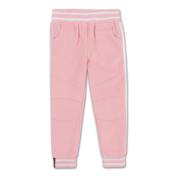 Teddy Varsity Moto Pants (Powder Pink)