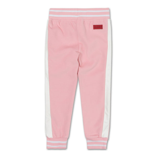 Teddy Varsity Moto Pants (Powder Pink) - Haus of JR
