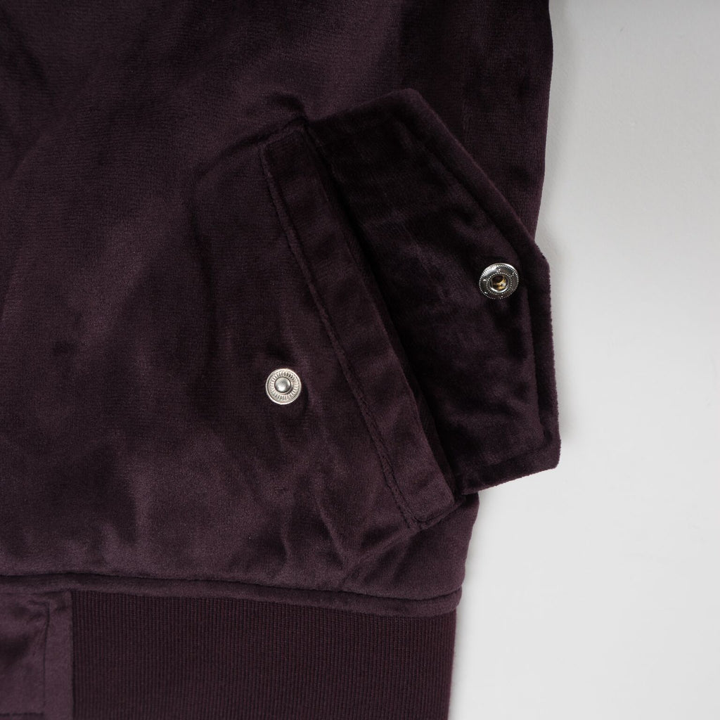 Viola Velour Bomber Jacket (Violet) - Haus of JR