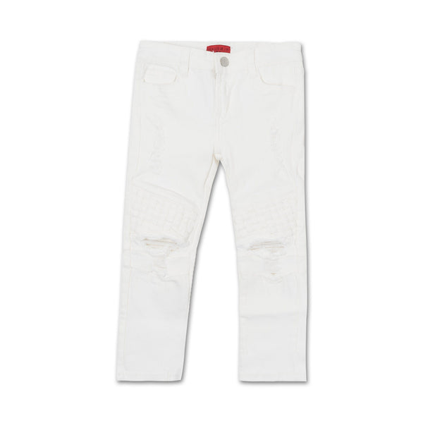 Zanotti Basket Denim (White) - Haus of JR