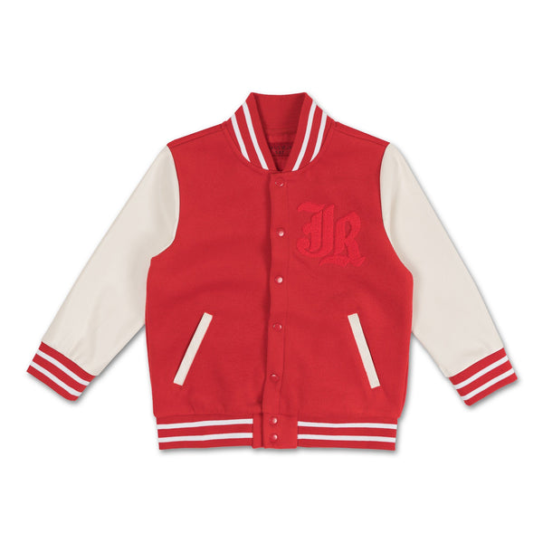 Alec Varsity Jacket (Red) - Haus of JR