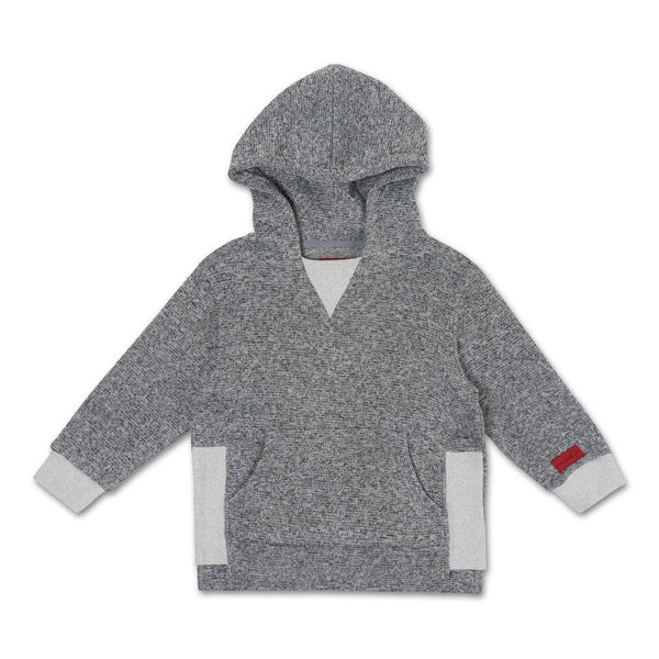 Arthur Rib Neck Hoodie (Grey) - Haus of JR