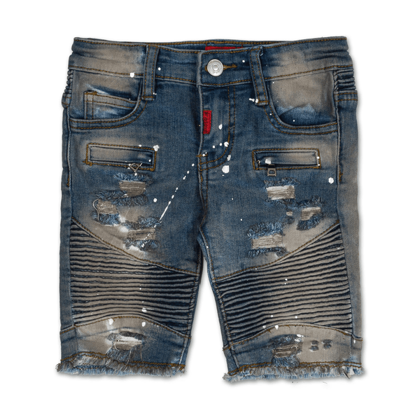 Aurora Biker Denim Short