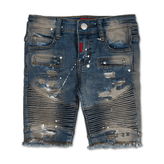 Aurora Biker Denim Short - Haus of JR