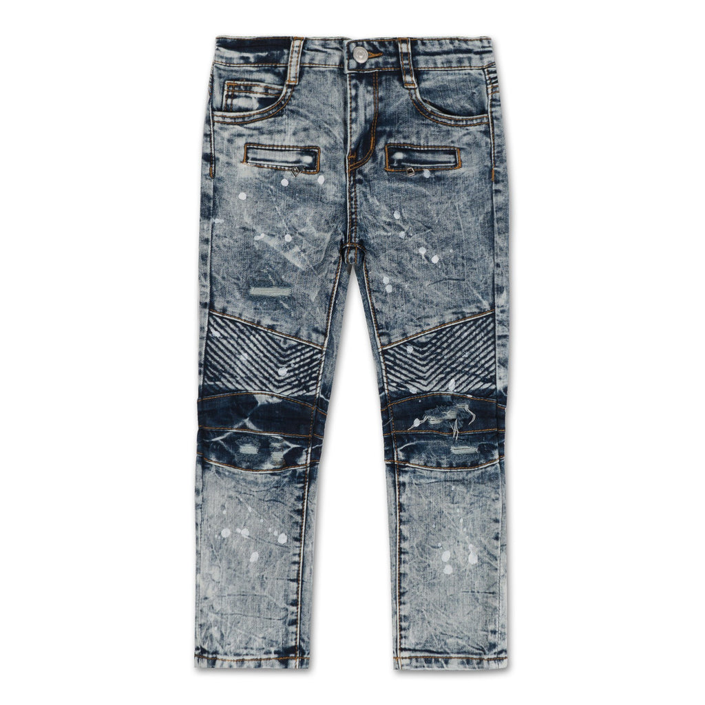 Clayton Crossrib Biker Denim - Haus of JR