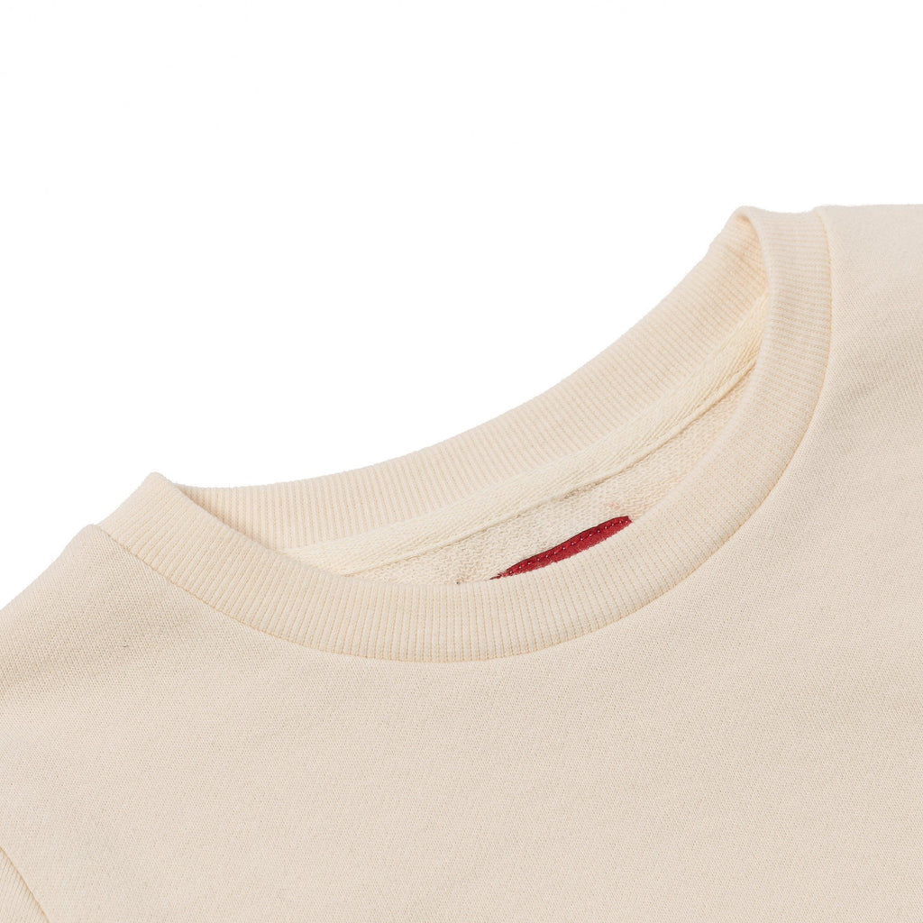 Franklin Inset Crewneck (Off White) - Haus of JR