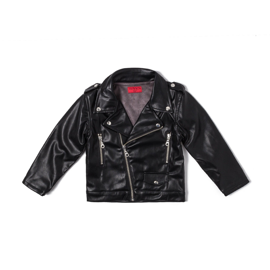 Lex Biker Jacket (Black Faux Leather) - Haus of JR