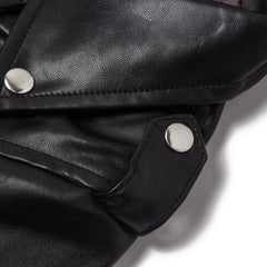 Lex Biker Jacket (Black Faux Leather)