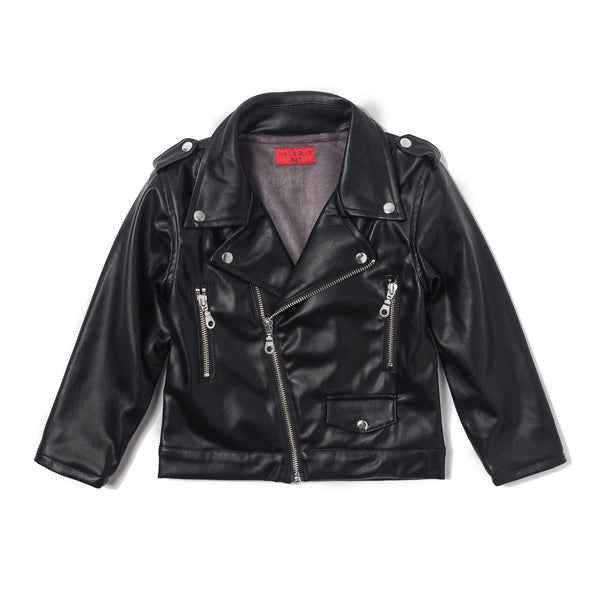 Lex Biker Jacket (Black Leather)