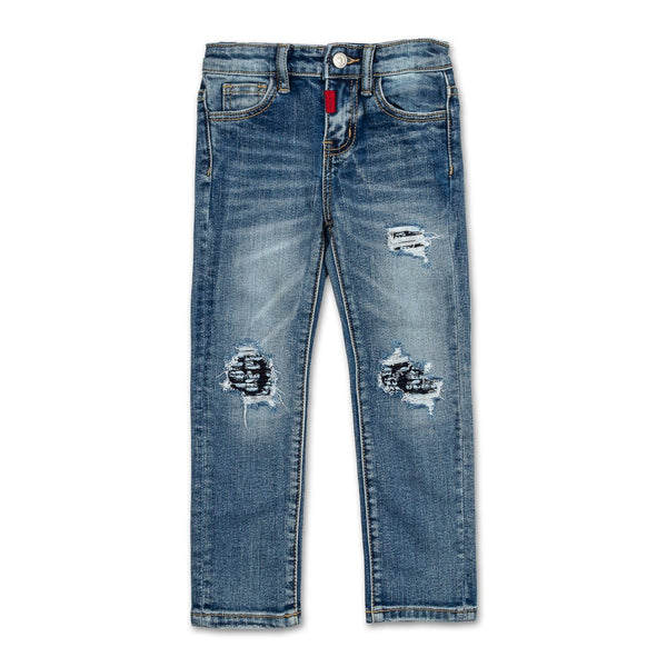 Mickey Patchwork Biker Denim - Haus of JR